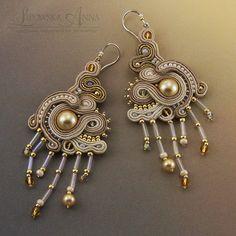 334 Sutasz kolczyki Soutache Jewelry, Jewellery Earrings, Drop Earrings, Fashion, Moda, Fashion Styles, Drop Earring, Fasion