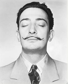 Salvador Dali  Eyes closed! How did the photographer get away with it?