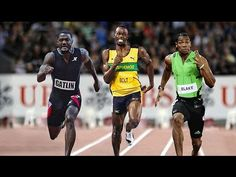 Top 10 fastest races on 100m men - YouTube