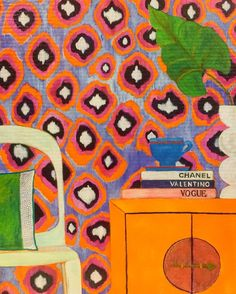 @mariskameijersamsterdam 's art makes me happy. #art #design #textiles #textilesdesign #wallpaper #artlove #mariskameijers
