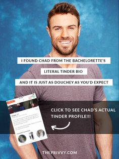 I found Chad from The Bachelorette's literal Tinder bio and it is just as douchey as you'd expect | Chad Johnson - The Bachelorette - JoJo Fletcher - Bachelor in Paradise