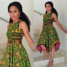 ღ ♡ ♡ ღ ~ Ghanaian fashion ~DKK African Print Dresses, African Fashion Dresses, African Attire, African Wear, African Women, African Dress, African Prints, African Style, African Inspired Fashion