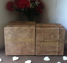 Rustic Groomsmen Gift - Set of 8 Wooden Cigar Boxes - Laser Engraved Name - Stained and Personalized - Free Shipping Code Inside Listing on Etsy, $228.00