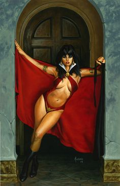 VAMPIRELLA  Making An Entrance  Comic Art