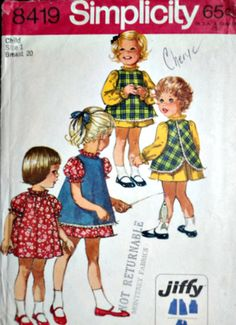 Child's Dress And Pinafore Simplicity 8419 by MemoryMadeMercantile