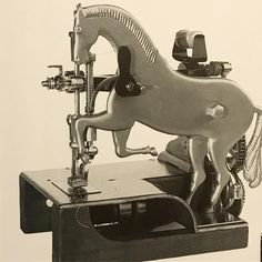 """177 Likes, 17 Comments - Woodard and Greenstein (@woodardweave) on Instagram: """"A very unusual horse-shaped sewing machine in the collection of the Smithsonian Institution.…"""""""
