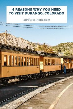 6 Awesome Things to Do in Durango, CO (especially in the Fall) — Adrift Aesthetic Silverton Train, Silverton Colorado, Durango Colorado, Outdoor Adventure Store, Durango Train, Road Trip Hacks, Road Trips, Road Trip To Colorado, Travel Usa