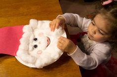 Christmas craft for kids- Cotton ball santa Paperplate Christmas Crafts, Christmas Crafts For Toddlers, Fun Crafts For Kids, Toddler Crafts, Holiday Crafts, Christmas Jingles, Christmas Makes, Christmas Books, Christmas Projects