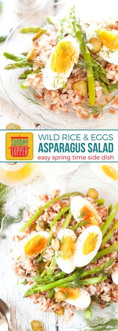 This make-ahead Asparagus Salad with Rice and eggs is BRIGHT, EASY to make, and a DELICIOUS side to serve alongside your Easter centerpiece. A delicious HOLIDAY RECIPE the whole family will LOVE! This Easy Easter Side Dish salad will make your springtime entertaining very easy! #SundaySupper #EasterRecipe #EasyEasterSideDish #AsparagusRecipe #SaladRecipe #EasyRecipe #RiceRecipe