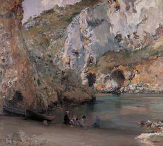 La cala de Granalla, Alicante - José Navarro Llorens (1867-1923)