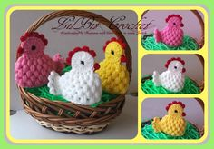 Hand Crochet Easter Egg Cosy / Warmer - Easter Chicks Great for Easter Egg Hunt, what a fun for kids to first find the hen and then the egg. Holiday Crochet, Easter Crochet, Crochet Gifts, Hand Crochet, Crochet Toys, Crochet Chicken, Confection Au Crochet, Diy Ostern, Crochet Kitchen