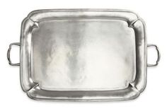 Match Pewter Parma Rectangle Tray with Handles (Large)
