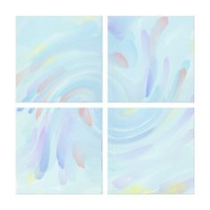 Abstract Paint Stretched Canvas Print
