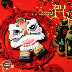 Lion Dance - CNY Cookies by Carcar Sweet Art