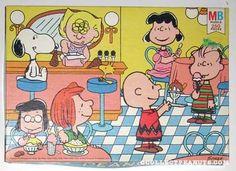 Peanuts Milton Bradley Puzzles | CollectPeanuts.com - Peanuts at Ice Cream Parlour Puzzle