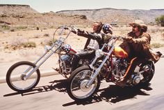 """EASY RIDER"" with Peter Fonda and Dennis Hopper & Jack Nicholson. ""This is flick came out when I was 13 years old and was my road map on how to be a hippie biker stoner."" - BTM"
