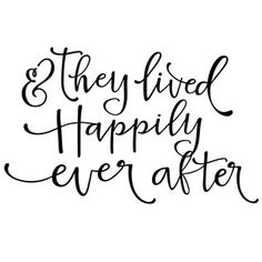 Silhouette Design Store - View Design #119549: they lived happily ever after phrase