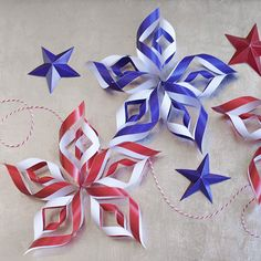 Make a Few Paper Stars For Fourth of July Decor