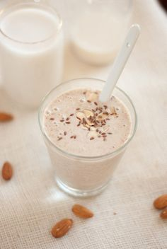 Fresh : Ten Healthy Smoothie Recipes  Healthy Banana Almond Smoothie with Flax Seeds | Cookie and Kate
