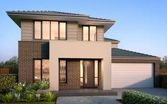 Australia's range of unique Vaucluse house designs are all available to view online. Metricon specialises in self build and property development. Home Interior Design, Exterior Design, Winchester Homes, Large Floor Plans, Facade House, House Facades, Display Homes, Brickwork, New Home Designs