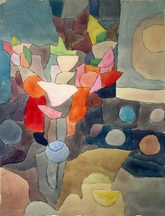 Titre de l'image : Paul Klee - nature morte de glaïeuls