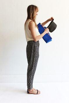 MILLE   Lauren Manoogian Arch Pants - Black/Natural