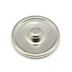 10pcs DIY Finidng Platinum Tone Brass Snap Button Cabochon Settings Flat Round