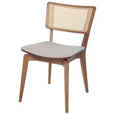 ARES CADEIRA - Tok&Stok Cane Furniture, Indian Furniture, Modern Furniture, Furniture Design, Chair Sofa Bed, Contemporary Dining Chairs, Chair Design, Living Room Decor, Interior Decorating