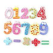 Funny Math Symbol Wooden Fridge Magnets Educa... – USD $ 3.99