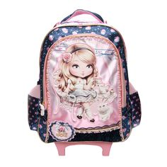 Aliexpress.com : Buy Hot Kids Children School Bag, Cute Lovely Barbie Trolley Bags Cartoon Backpack, Primary Book Bag For Girls Princess from Reliable bag of rice price suppliers on Konkey Store  | Alibaba Group