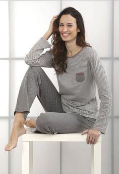 Pijama mujer Massan gris