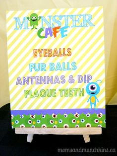 Monster Birthday Party Ideas #KidsParties