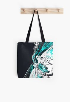 'The Abyss No.01' All Over Print Tote Bag, print design by Asmo Turunen. #design #totebag #shoppingbag #atcreativevisuals #kestokassi