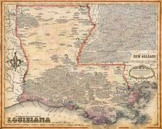 Louisiana Music Map