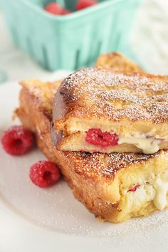 White Chocolate & Raspberry French Toast