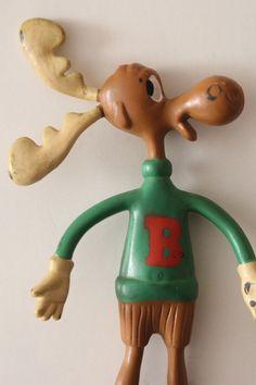 BULLWINKLE THE MOOSE Bendy Action Figure by Jesco 1985 #Jesco