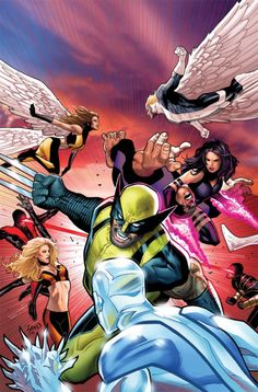 X-Men vs X-Men by Greg Land
