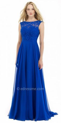 Chiffon Lace A-line Prom Dress by Morrell Maxie  edressme Royal Blue Prom  Dresses 9613fb61be3b