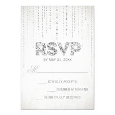 Shop Lavender & Silver Glitter Look Wedding RSVP Card created by TheSpottedOlive. Lavender Wedding Invitations, Aqua Wedding, Glitter Invitations, Sparkle Wedding, Personalized Invitations, Wedding Rsvp, Wedding Invitation Design, Wedding Ideas, Wedding Stuff