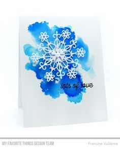 Welcome to this month's Hits & Highlights spot! Hits & Highlights this month is all about the feeling of winter with a cool p. Card Kit, Card Tags, Christmas Gift Card Holders, Watercolor Christmas Cards, Snowflake Cards, Mft Stamps, Highlights, Winter Cards, Card Making Inspiration