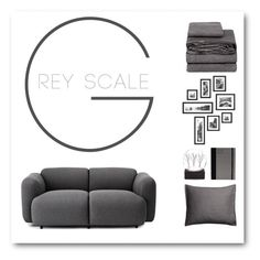 """Grey scale"" by tngirl8 ❤ liked on Polyvore featuring interior, interiors, interior design, home, home decor, interior decorating, Mikmax, H&M, Poketo and Normann Copenhagen"