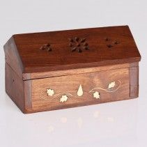 Ethnic Wooden Incense Holder Box,