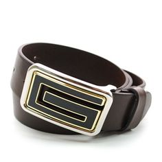 (JPB020-DARKBROWN) Casual Leather Belt from W28 to W40