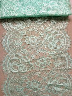 """Mint Lace Table runner, 12"""" , mint green table runners, wedding table runners, lace table runner, R150408023"""