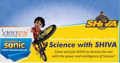 Scienceutsav in association with Nickelodeon and Sonic Gang presents Science with SHIVA at Kiddington, Kandivali.  Come meet SHIVA this weekend and explore the secrets behind his various mysterious gadgets. 👾 Learn the tricks that enables SHIVA to control various robots and make them follow his commands.  Its a unique show for kids to be introduced to Robotics through their favorite cartoon character SHIVA  For more details contact 9820589226 | 9029402029  #ScienceWithShiva