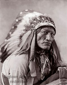 High Bear, Restored Reprint of Vintage Native American Oglala Lakota Man Photograph by Herman Heyn