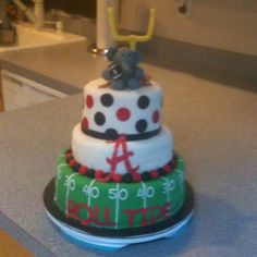 Roll tide cake!! My sister Jill made for the Bama/lsu game!!