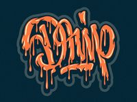 Drip -lettering