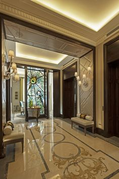 44 Modern Apartment Interior ideas that Grab Everyone's Attention Decoration # Apartment 9, Apartment Entrance, Apartment Interior Design, Luxury Interior Design, Luxury Home Decor, Modern Interior, Luxury Homes, Interior Decorating, Interior Ideas