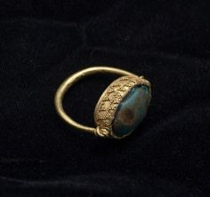 Scarab set in ring with granulation  Jewelry  Egyptian  Ptolemaic period, 323-31 BC  Creation Place: Egypt (Ancient)  Gold